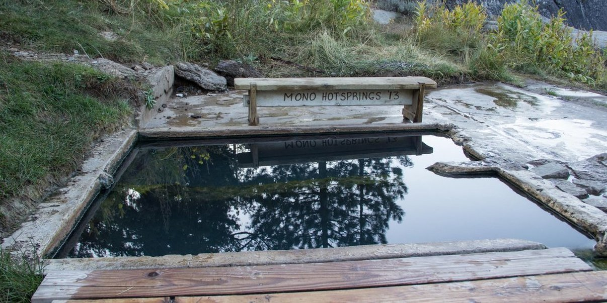 Old Pedro is the hottest hot spring at Mono